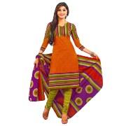 Trendy Cotton Unstitched Punjabi Suit With Dupatta