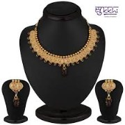 Sukkhi Royal Gold Plated Multicolored Goddess Laxmi Necklace Set