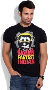 Printed Round Neck T- Shirt for Men
