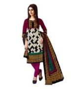 Trendy Cotton Unstitched Punjabi Suit With Dupatta