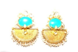 Varna Dance Collection Gold Plated Earrings