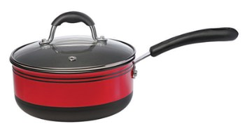Alda Hard Anodized Carbon Steel Saucepan With Lid