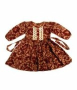 Stylish Roses Grack Frock For Kids