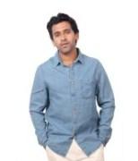 Ink Blue Denim Shirts For Men's