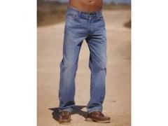 Light Blue Straight Fit Jeans For Men