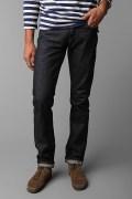 Pencil Cut Solid Black Jeans for Men