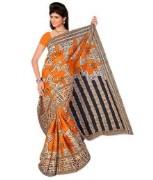 Orange Bombay Cotton Saree