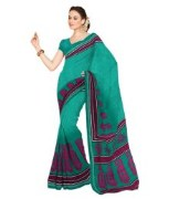 Stylish Green Color Cotton Saree