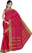 Stylish Red Color Cotton Saree