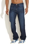 Stylish Regular Fit DarkBlue Washed Jeans