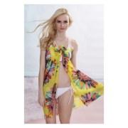 Nitein-40477Yellow-Summer Sunflower Babe Yellow Beach Sarong