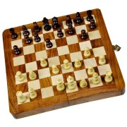 Little India 115 Designer Wooden Chess Board Handicraft Gift
