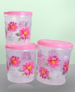 Plastic Container Combo Of 3