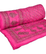 GRJ India Jaipuri (Sanganeri) Cotton AC with Gold Print Quilt