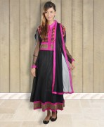 Designer Anarkali Semi - Stitched Suit