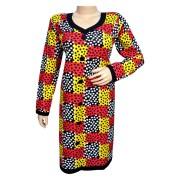 Niranjana 1204 block printed with polka dots womens casual kurta