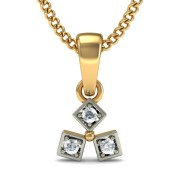 The Tribus Diamond Pendant In 18Kt Yellow Gold