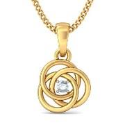 The Ceeran Diamond Pendant In 18Kt Yellow Gold