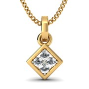 The Mirian Diamond Pendant In 18Kt Yellow Gold