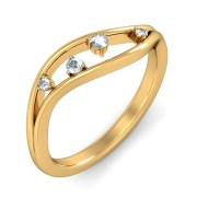 The Orrus Diamond Ring In 18Kt Yellow Gold