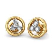 The Triani Diamond Earring In 18KT Yellow Gold
