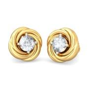 The Ruon Diamond Earring in 18k Yellow Gold