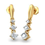 The Ignatius Diamond Earring In 18KT Yellow Gold