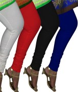 Day By Day Premium Leggings Combo of 4 Pcs