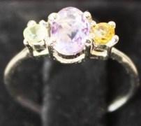 Stylish & Elegant Sterling Silver Amethyst Ring-BRA1336