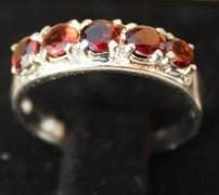 Stylish & Elegant Sterling Silver Garnet Ring-BRG1337