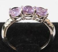 Stylish & Elegant Sterling Silver Amethyst Ring-BRA1339