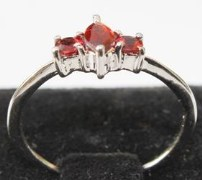 Stylish & Elegant Sterling Silver Garnet Ring-BRG1340