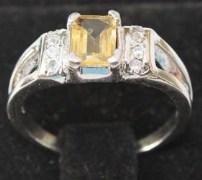 Stylish & Elegant Sterling Silver Citrine Ring-BRC1342