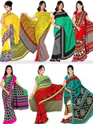 Wespro 7G2 Set of 7 Premium Georgette Sarees