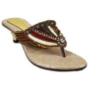 Austrich FQ Women Golden Designer Sandal 1