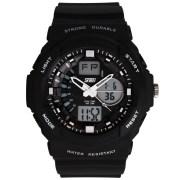 Skmei Imported Trendy Casual Analog & Digital Pu Quartz Watch - NWA05S014C0