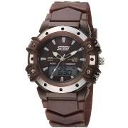 Skmei Imported Trendy Casual Analog & Digital Pu Quartz Watch - NWA05S038C0