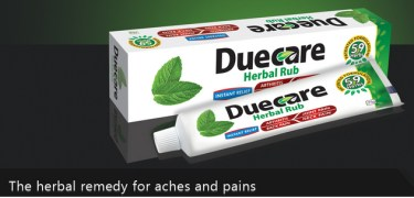Duecare Herbal Rub - Box Of 12 Tubes