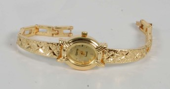 Ajanta Golden Watch for Women