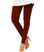 Maroon Cotton Lycra Legging