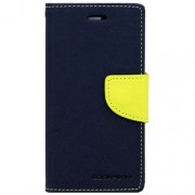 Fancy  Diary style wallet  Flip Cover For Samsung Grand i9082 Blue green .