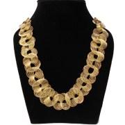 Aza Collection Golden Blaze Alloy Necklace for Women