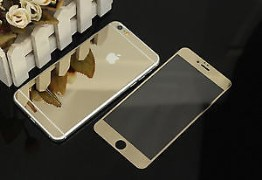 IPHONE FRONT AND BACK TEMPERED SCREEN GLASS PROTECTOR GOLDEN