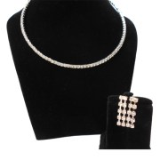 Aza Collections CZ Stones Blaze Jewel Set with earrings