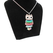 Aza Collection multi-Colour Retro Style Owl Neck-Piece