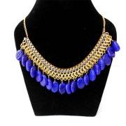 Aza Collections Blue Stone Necklace