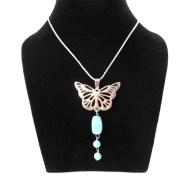 Aza Collection Stylish Blue Butterfly locket