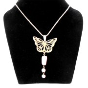 Aza Collection Stylish Pink Butterfly Locket