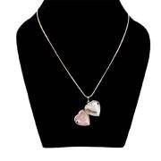 Aza Collection Stylish Heart Shape Pendant Locket Silver