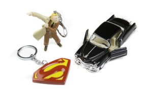 Tintin Vintage Classic car and Metal Superman